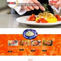 自适应餐饮加盟饭店加盟全屏大气模板