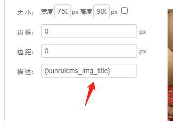 添加图片后点修改描述这里没有获取到内容只显示了一个标签!
