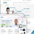 蓝色视网膜响应式网站设计大气扁平化