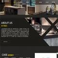 黑色响应式装修设计网站模板